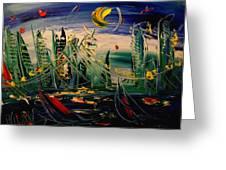 Moon City Greeting Card