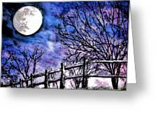 Moon O're Hocking Hills Greeting Card