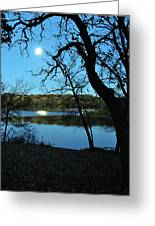 Moon Over Pierce Lake Greeting Card