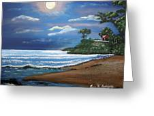 Moonlight In Rincon II Greeting Card