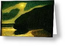 Moonlit Cove Greeting Card