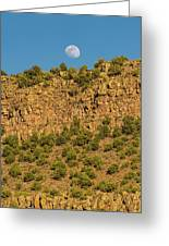 Moonrise Rio Grande Gorge Pilar New Mexico Greeting Card
