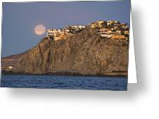 Moonset Over Pedregal Greeting Card