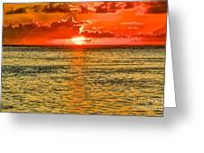 Moorea Sunset Greeting Card