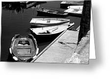 Moored Boats Greeting Card
