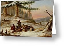 Moose Hunters Greeting Card