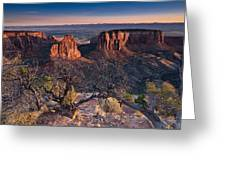 Morning At Colorado National Monument Greeting Card