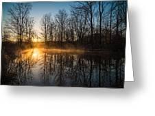 Morning Burn Greeting Card