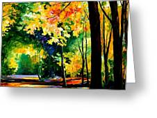 Morning Forest Greeting Card