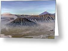morning light Mount Bromo - Java Greeting Card