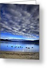 Morning Light On Okanagan Lake Greeting Card