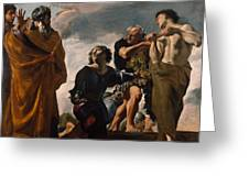 Moses And The Messengers From Canaan Greeting Card