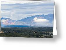 Mosquito Range Mountains In Storm Clouds Greeting Card