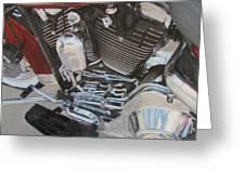 Motorcycle Close Up 1 Greeting Card