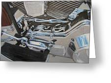 Motorcycle Close Up 2 Greeting Card