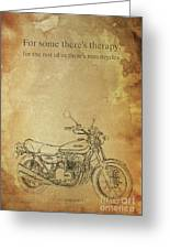 Motorcycle Quote Greeting Card