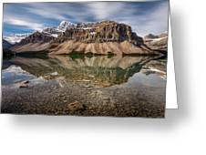Mount Crowfoot Reflection Greeting Card