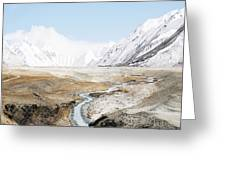 Mount Everest Greeting Card by Setsiri Silapasuwanchai