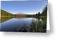 Mount Hood At Trillium Lake Greeting Card