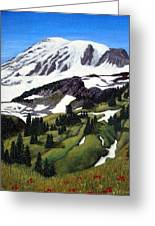 Mount Rainier Greeting Card
