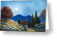 Mountain Moonrise Greeting Card