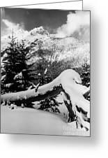Mountain Snow 2 Greeting Card