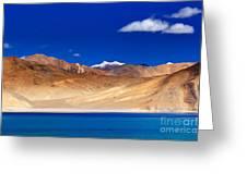 Mountains And Rocks Pangong Tso Lake Leh Ladakh Jammu Kashmir India Greeting Card
