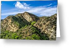 Mountains At Towsley Canyon In Southern California Greeting Card