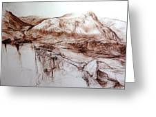 Mountains In Snowdonia Greeting Card