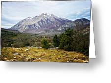 Mountains In The Background X Greeting Card