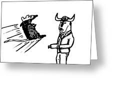 Mouse Vs. Buffalo Greeting Card