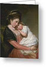 Mrs Johnstone And Her Son Greeting Card