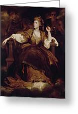Mrs. Siddons As The Tragic Muse Greeting Card
