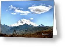 Mt Rainier Washington Greeting Card