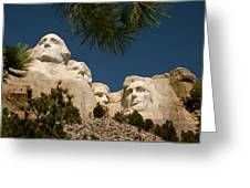 Mt Rushmore II Greeting Card