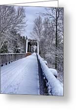 Munger Trail Bridge Greeting Card