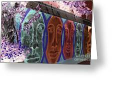 Mural Faces Greeting Card