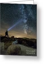 Mushroom Rocks Phenomenon Under The Night Sky Greeting Card