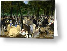 Music In The Tuileries Greeting Card