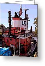 Muskegon Tug Greeting Card