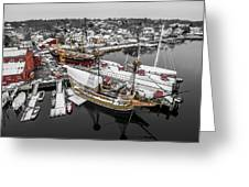 Mystic Seaport In Winter Greeting Card