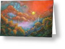 Mystic Sunrise Greeting Card