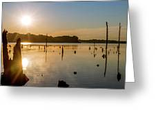 Mystical Sunrise On The Lake Greeting Card