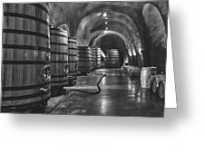 Napa Valley Wine Cellar Greeting Card