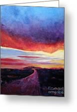 Narrow Road To Life Greeting Card