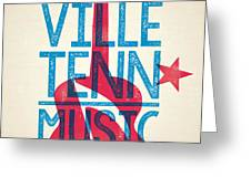 Nashville Poster - Tennessee Greeting Card by Jim Zahniser