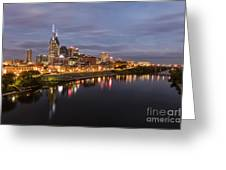 Nashville Tennessee Skyline Sunrise  Greeting Card