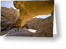 Natural Arch In Wadi Rum Greeting Card