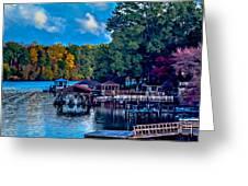 Nature Landscapes Around Lake Wylie South Carolina Greeting Card
