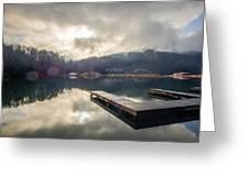 Nature Views Near Chimney Rock And Lake Lure Greeting Card